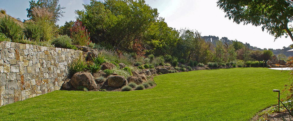 Stone Wall and Boulders