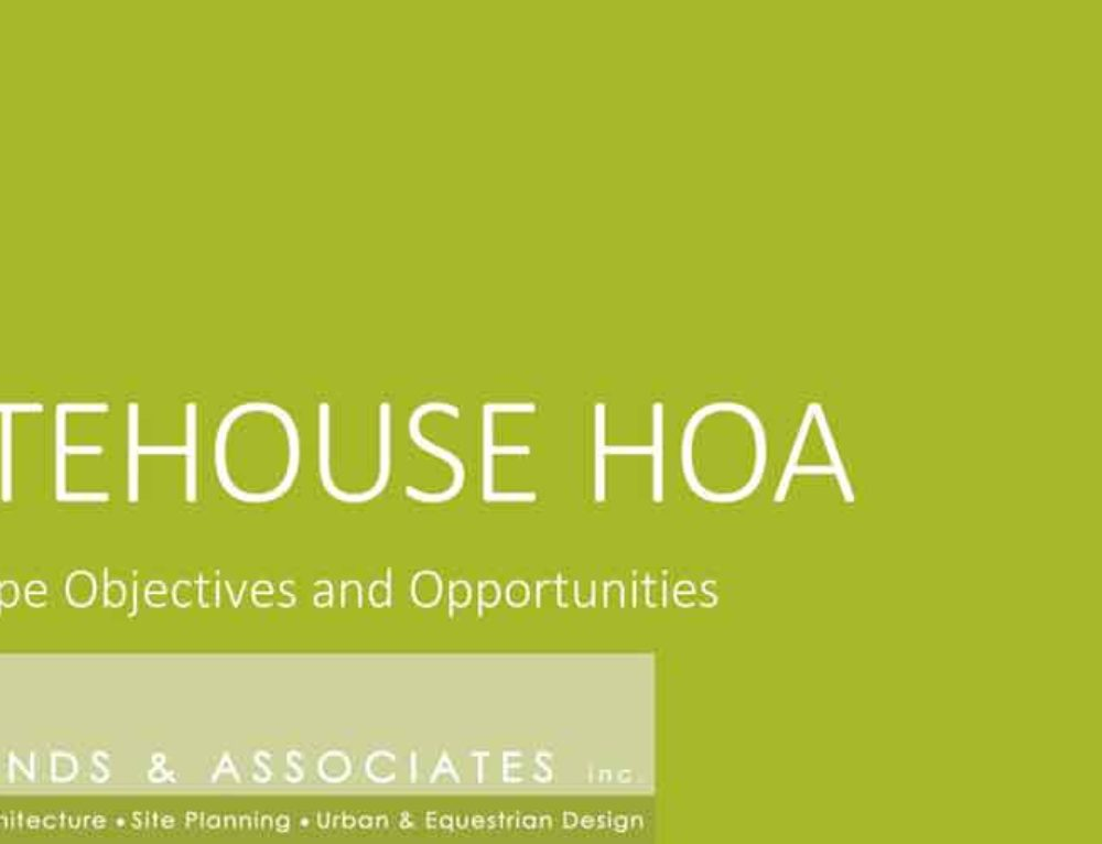 Gatehouse Homeowners Association Sustainable Solutions
