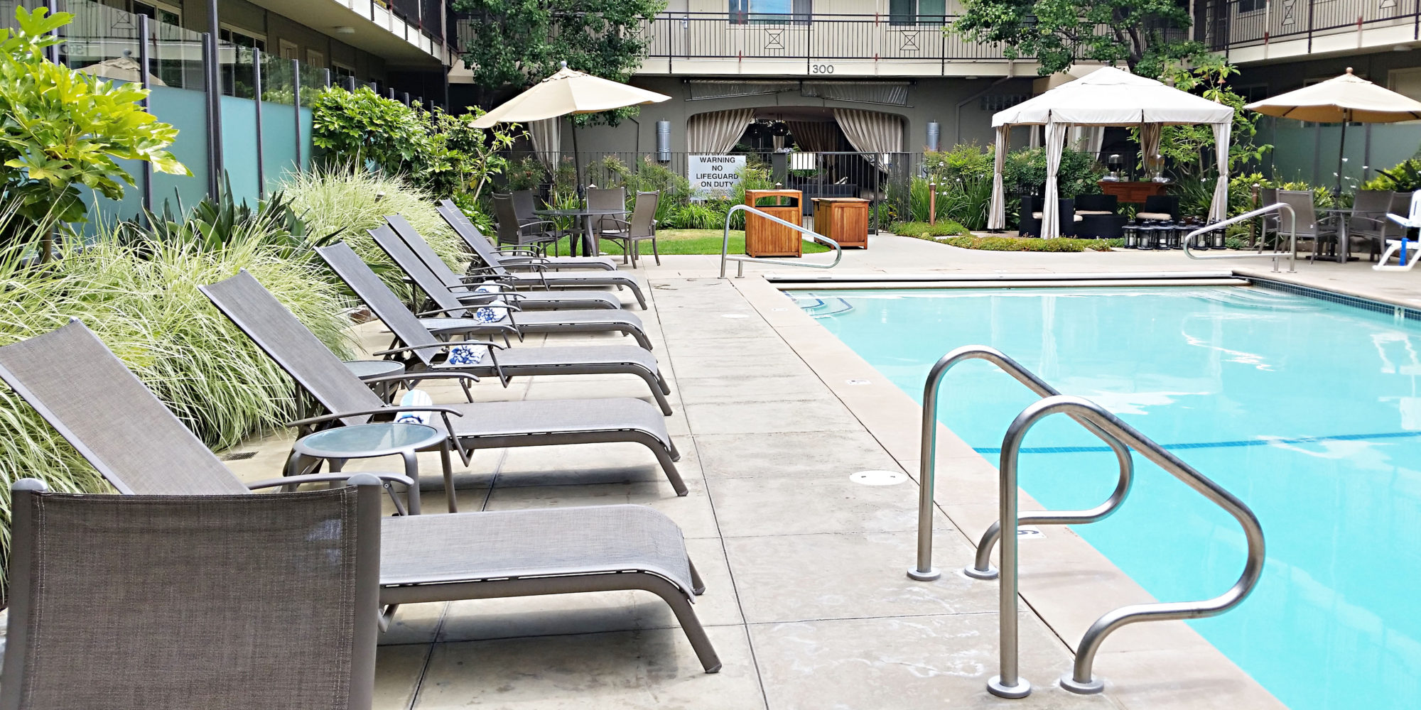 Chaises by the Pool