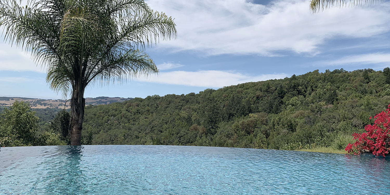 Infinity Pool overlooking Sonoma Valley